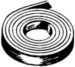 Foam Seal Inc CBMC1870150030 1 1/2 MYLAR CAP TAPE BLACK