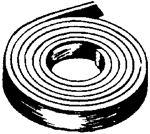 Foam Seal Inc CBPC1870150030 1 1/2 PAPER CAP TAPE  BLACK