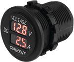 Sea-Dog Line 421625-1 ROUND DIGITAL VOLTAGE/AMPMETER