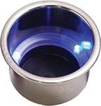 Sea-Dog Line 588074-1 BLUE LED DRINK HOLDER W/DRAIN