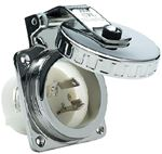 Hubbell HBL303SS POWER INLET S/S 30 AMP