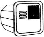 Suburban Mfg 6255APW DOOR POLAR WHITE FLUSH MOUNT