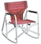 Ming's Mark Inc SL1205-BURGUNDY CAMPING CHAIR ROCKER BURGUNDY