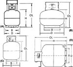 STEEL DOT PROPANE CYLINDERS (MANCHESTER_TANK)