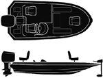 SEMI-CUSTOM WIDE BASS BOAT - BOAT COVER (SEACHOICE)