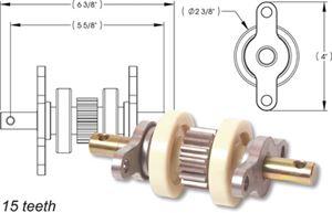 AP Products 014-324869 STD GEAR PK ASSEMBLY 15 TEETH