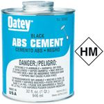 Bristol Products 7530889 8OZ ABS CEMENT BLACK