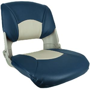 Springfield Marine 1061019 SKIPPER SEAT GRAY W/BLUE&GRAY