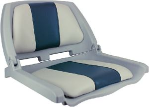 Springfield Marine 1061121-C TRAVELER SEAT GRAY W/BLUE&GRAY