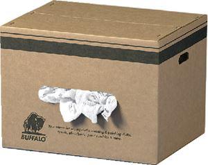 Buffalo Industries 10524 RECLAIMED WHITE KNIT WIPER 25#