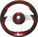 Uflex GRIMANI R/S STEERING WHL-RED GRIP SLVR SPK