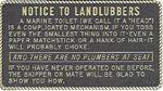 Bernard Engraving FP003 NOTICE TO LANDLUBBERS