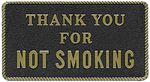 Bernard Engraving FP039 THANK YOU FOR NOT SMOKING
