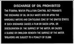 Bernard Engraving P204 DISCHARGE OF OIL PROHIBITED