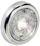 Attwood Marine 6342R7 1.5  ROUND SS LED LITE RED