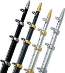 Taco Metals OC-0432BKA116 TEL-CENT RIG 1-1/8X12' BL/SIL