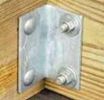 Tiedown Engineering 26399 ANGLE BRACKETS 3X3 SQ HOLES