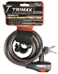 Trimax Locks TKC126 6'HIGH SECURITY CABLE LOCK