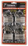 Trimax Locks TLM4100 4PK KEYED ALIKE TLM100 PADLOCK