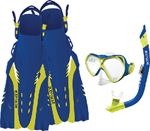 Body Glove Vests 15038SETBLUCITLXL SNORKEL SET BLUE/CITRON L/XL