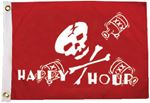 Taylor 1798 HAPPY HOUR PIRATE FLAG 12X18