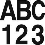 Hardline Products 17312 LTR 3IN SUPER-STIK BLK M PK/1