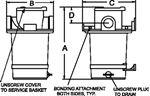 Groco ARG-3000-P STRAINER 3IN PLASTIC BASKET