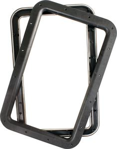 JR Products 11021 DELUXE DOOR WINDOW FRAME BLK