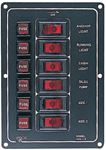 Sea-Dog Line 422110-1 ALUMINUM 6 SWITCH PANEL-VERT