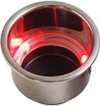 Sea-Dog Line 588071-1 RED LED DRINK HOLDER W/DRAIN