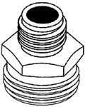 Brass Fittings 30058 ADAPTER 3/4 MGHT X 1/2 MPT