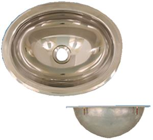 Scandvik 10280 S/S SINK MIRROR FINISH OVAL 13