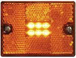 Seachoice MCL36ASSCH LED AMBER SQUARE STUD-MOUNT