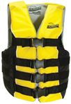 Seachoice 86410 BLACK/YEL 4 BELT VEST-SM/MD