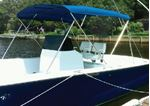 Carver Covers 603A04 3 BOW 73-78IN PAC  BLUE CNVAS