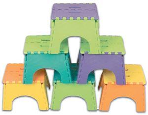 B & R Plastics 101-6TT 9IN FOLDZ 2-TONE ASSORT 6/CASE