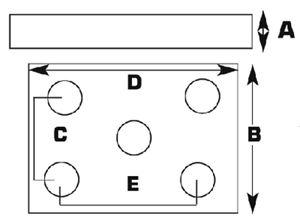 Fultyme RV 1074 MED DUTY AXLE U-BOLT PLATE 1/4