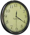 Manufacturers Select 32040TF-CF-D OVAL CLOCK WITH ANTIQUED BACK.