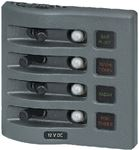 Blue Sea Systems 4374 PANEL WD 12VDC CLB 4 POS GRAY