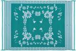 Ming's Mark Inc FB4-GRN. 6X9 PATIOMAT GREEN FLORAL