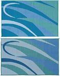 Ming's Mark Inc GA3-BLU/GRN 8X12 PATIOMAT BLU/GRN GRAPHIC