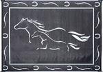 Ming's Mark Inc GH8111 MAT-HORSES 8'X11' BLACK-WHITE
