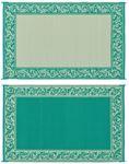 Ming's Mark Inc RD4-GRN 6X9 PATIOMAT GREEN/BEIGE