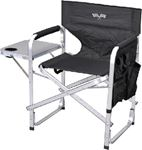 Ming's Mark Inc SL1204-BLK.FLAG DELUXE CAMPING CHAIR BLK/FLAG
