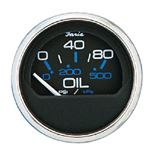 Faria 13707 CHES S/S BLK TRIM GAUGE FOR