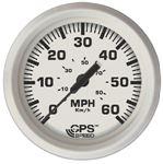 Faria 33147 DRESS WHITE GPS SPEEDO 60 MPH