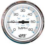 Faria 33839 CHES S/S WHT GPS SPEEDO 60 MPH