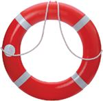 Dock Edge 56-203-F LIFE RING BUOY SOLAS 30IN USA