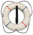 Dock Edge 58-421-F LIFE RING 19  REC/POOLSIDE WHT