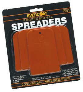 Evercoat 1100381 PLASTIC SPREADER KIT (3/CD)